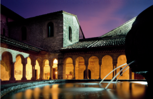 Una suggestiva immagine del complesso abbaziale
