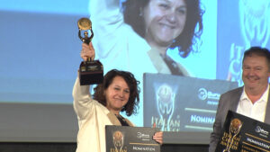 Emanuela Perenzin sul podio di Verona
