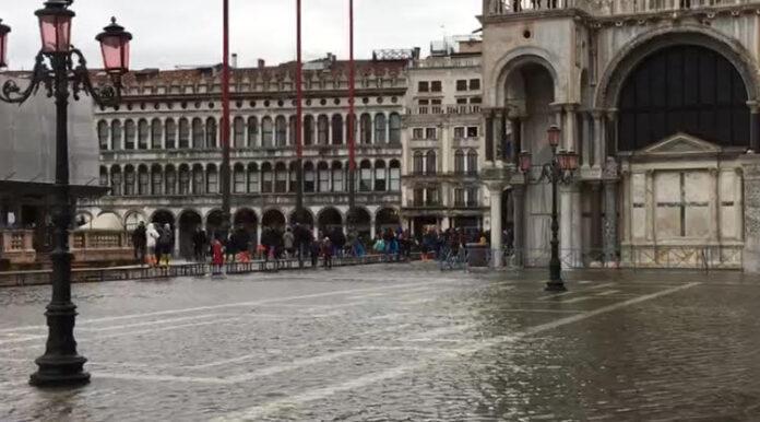 Acqua alta a Venezia del Novembre 2019