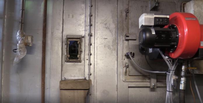 interno dell'impianto di Fusina