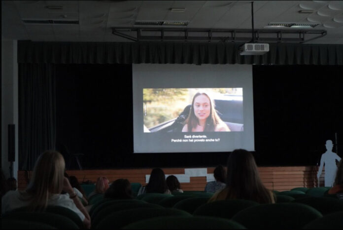 Un momento delle proiezioni in sala del Giffoni Film Festival