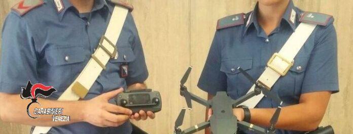 Il drone ritrovato dai Carabinieri
