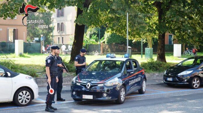 Carabinieri in azione a Mestre