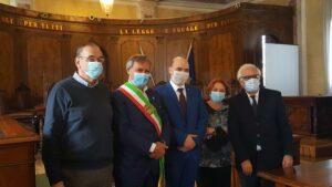 La cerimonia di proclamazione di Brugnaro sindaco di Venezia