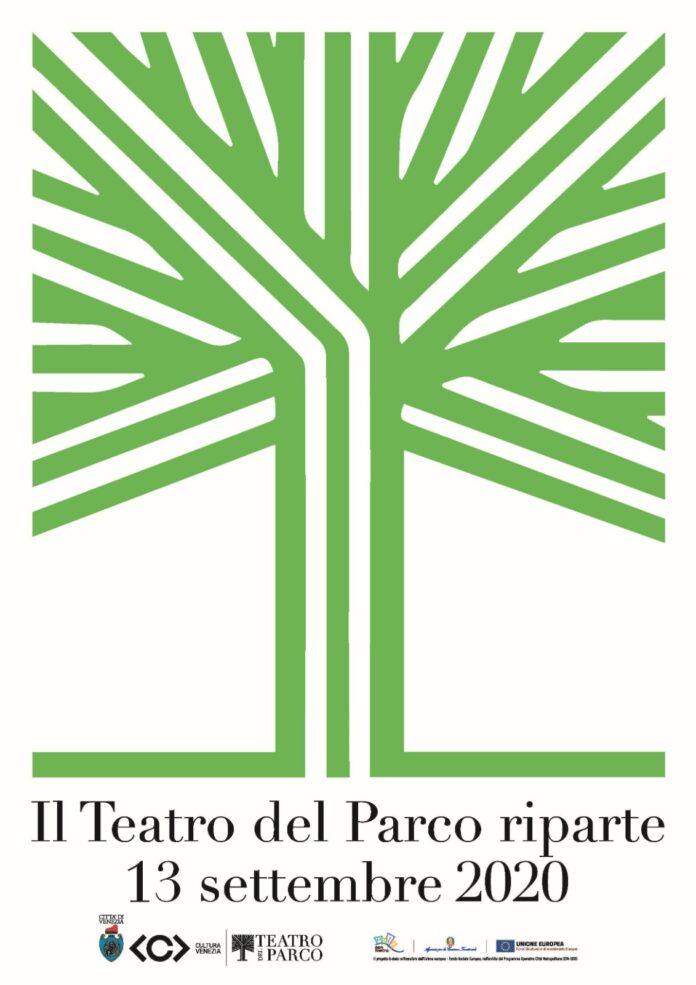 La locandina che annuncia la riapertura del Teatro del Parco della Bissuola