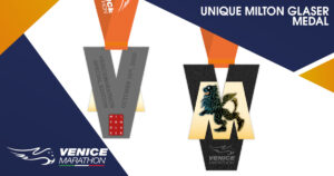 Le medaglie della Venice Marathon di Milton Glaser