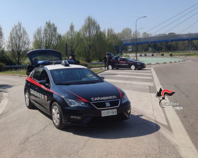 L'operazione di arresto da parte dei Carabinieri