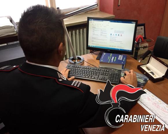 I Carabinieri indagano sulla truffa online