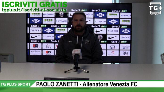 Mister Paolo Zanetti in una conferenza stampa