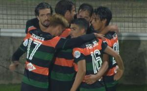I giocatori del Venezia FC festeggiano dopo un goal