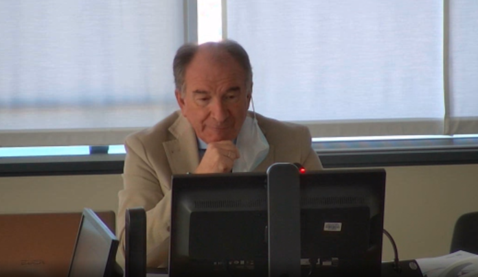Il Direttore Generale dell'Ulss 3, Giuseppe Dal Ben, in videoconferenza