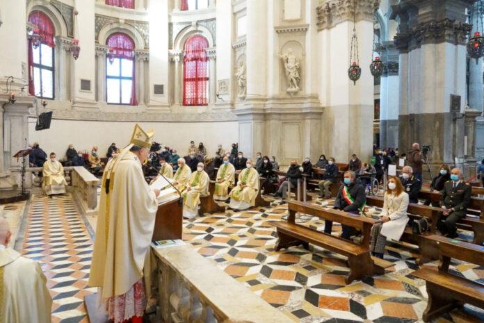 Il Patriarca Moraglia celebra la Messa Solenne nella Basilica della Madonna della Salute