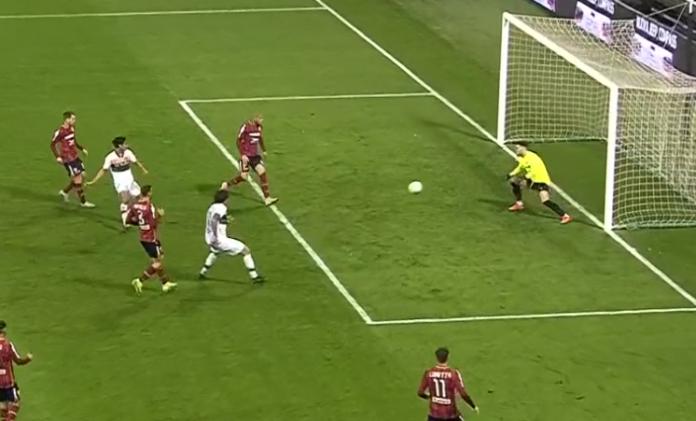 Il goal di Forte in Reggiana -Venezia