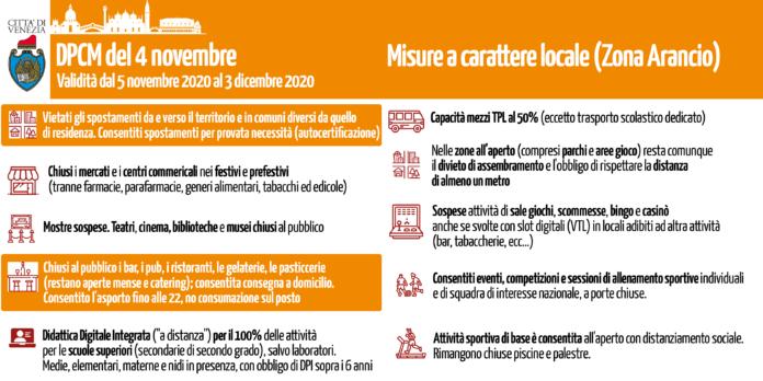 Misure a carattere locale (Zona Arancio)