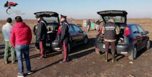 I Carabinieri nel corso dell'operazione nell'azienda agricola di Musile di Piave