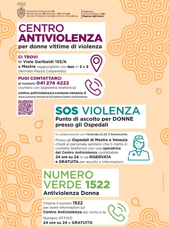 Servizi antiviolenza, i recapiti
