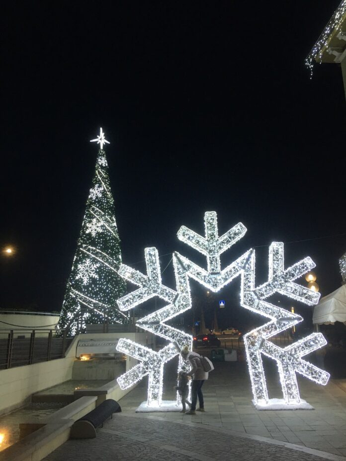 Luminarie natalizie a Jesolo