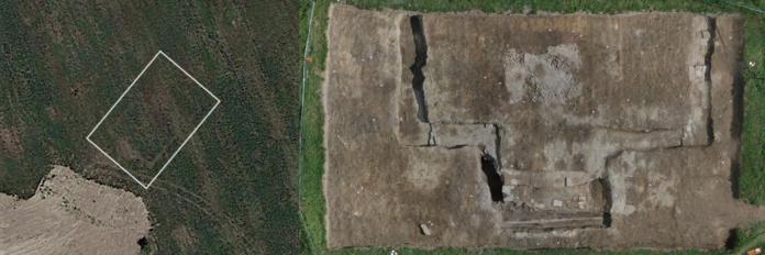Le fondazioni dell'edificio scoperto ad Altino