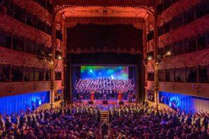Un'esibizione della Big Vocal Orchestra