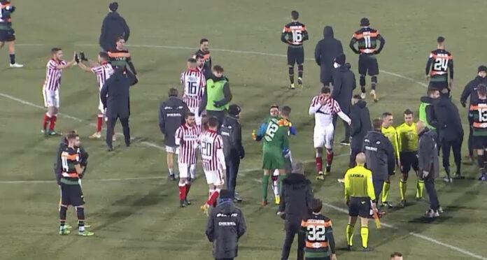 Vicenza-Venezia FC, i saluti finali in campo