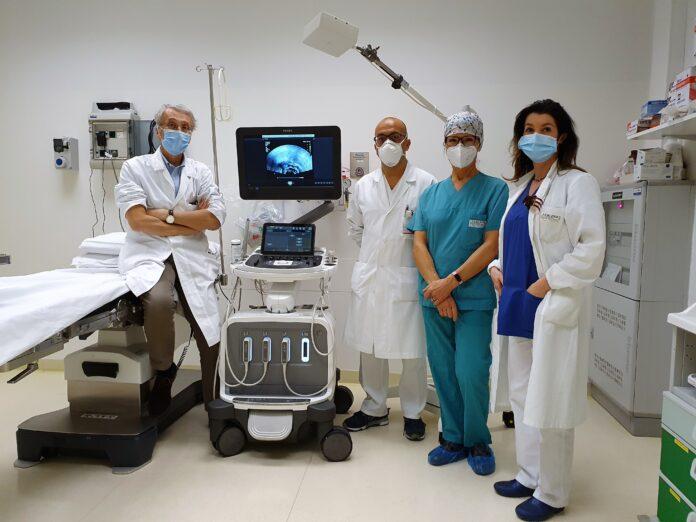 Il nuovo ecografo in dotazione all'Ospedale dell'Angelo