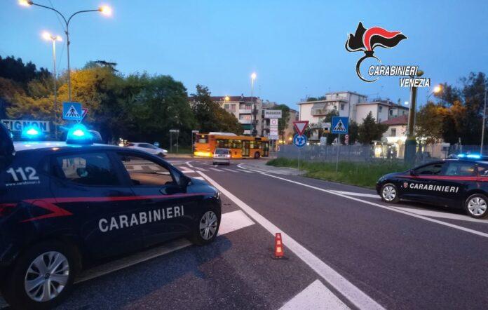 I Carabinieri in azione a Marghera