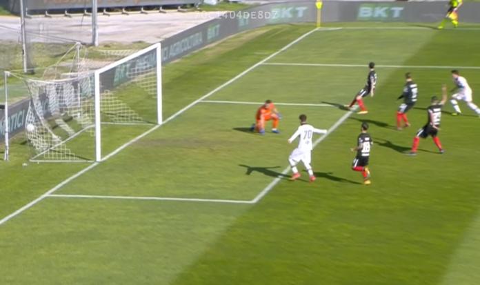 Il goal di Fiordilino contro l'Ascoli