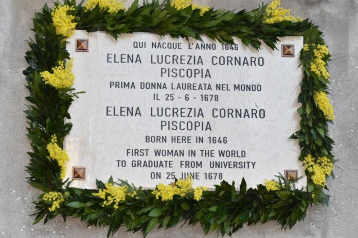 La Targa in onore di Elena Cornaro