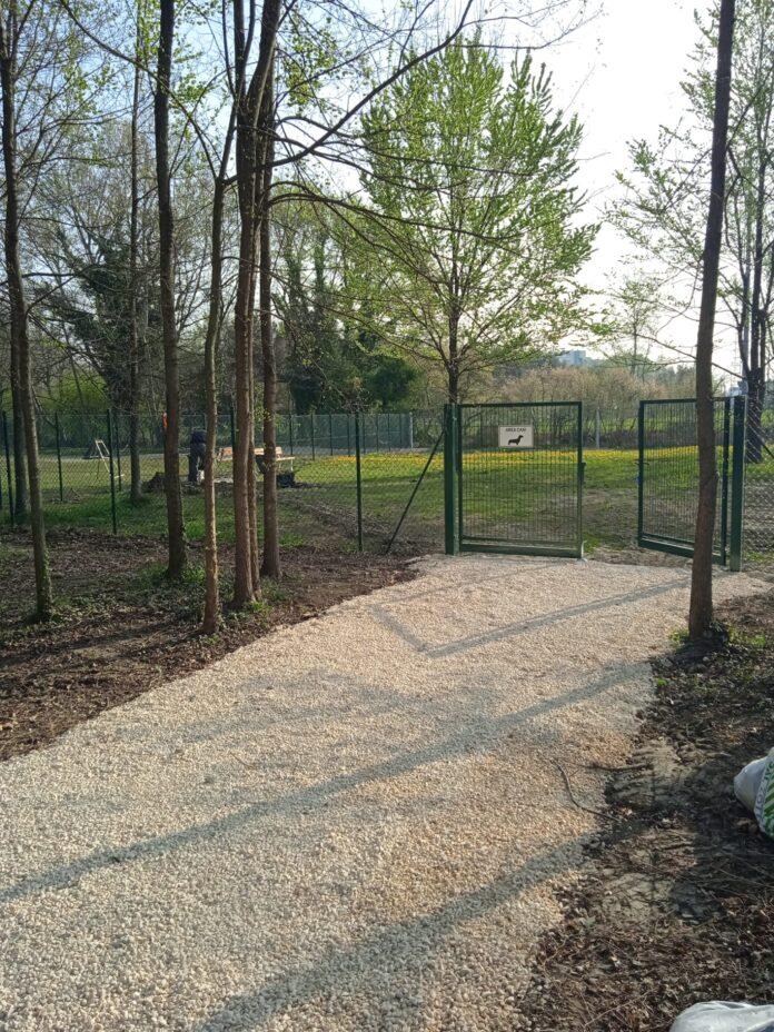La nuova area cani al Parco Catene a Marghera