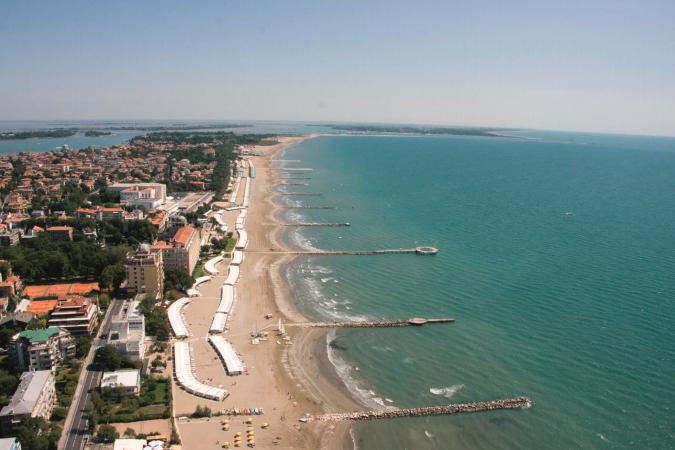 La spiaggia del Lido di Venezia