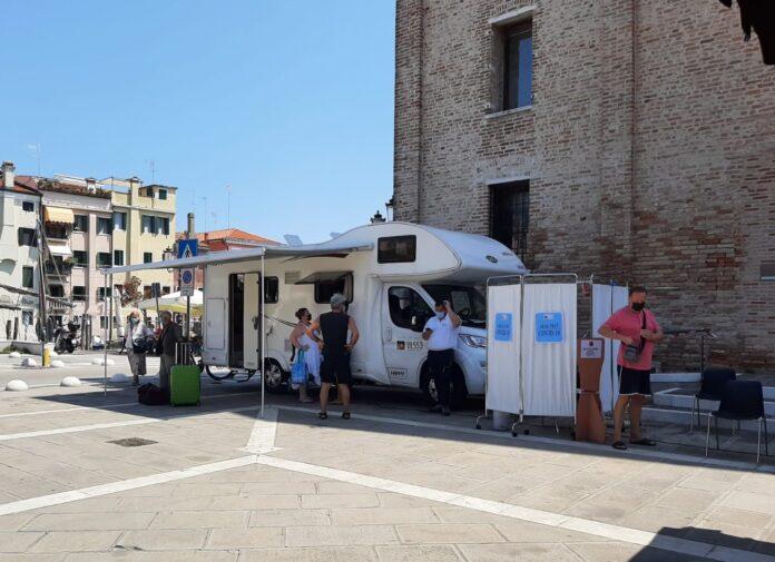 Camper vaccinale a Chioggia