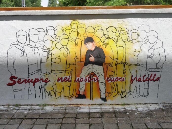 Il murale dedicato a Nicholas Povolato