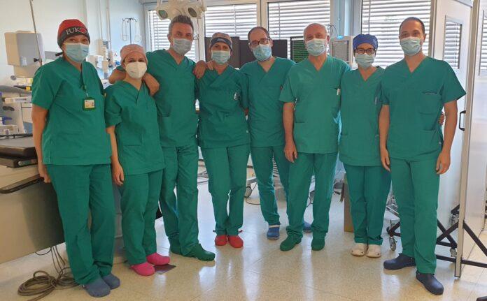 Il Primario Saccà con gli specialisti dell'Ospedale di Mirano