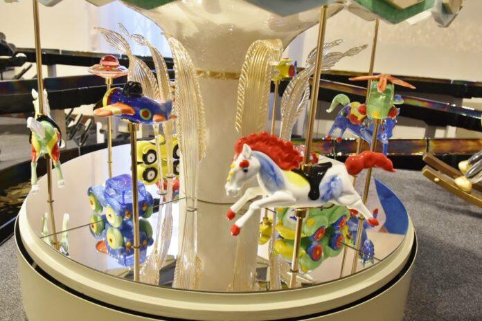 Murano Glass Toys - una delle opere in esposizione