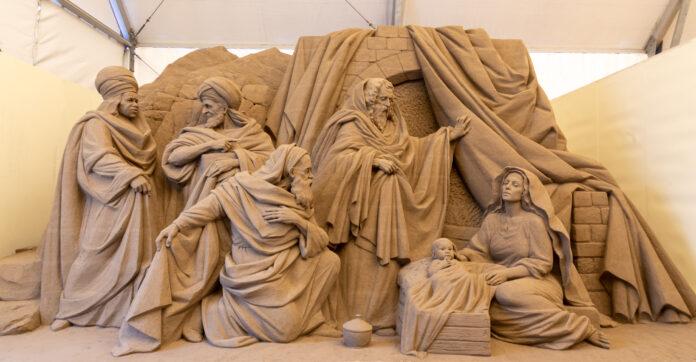 Jesolo Sand Nativity, un'opera dell'edizione 2019